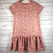 CREWCUTS Girls Floral Dress Size 10 Silky Gold Copper Pink Trim Zipper Back NEW