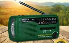 Radio Solare MANOVELLA di emergenza dinamo FM AM SW Ricevitore Sveglia DEGEN DE13