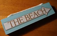 Rustic BEACH ARROW Nautical Weathered Wood Plank Sign Tropical Home Decor NEW