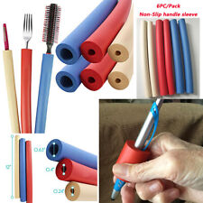 New listing 6pcs Non-Slip Handle Sleeve For Spoon Fork Pen Tooth Brush Soft&Safe Grip Daily
