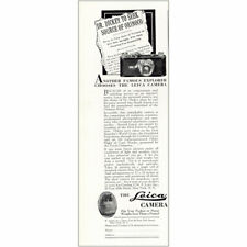 1930 Leica: Dr Dickey to Seek Source of Orinoco Vintage Print Ad