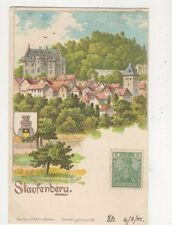 Staufenberg 1901 Chromo Litho Postcard Germany 744a