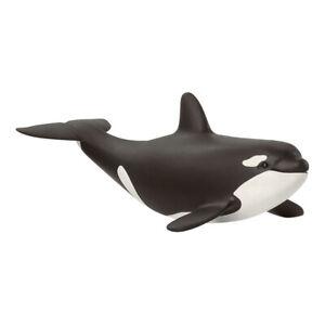 SCHLEICH Wild Life Baby Killer Whale Toy Figure