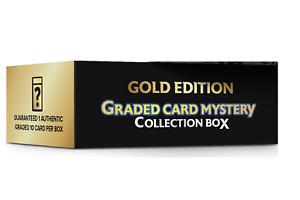 Pokemon Graded Card Mystery Collection Gold Box- 1 Graded 10 Card Per Box -