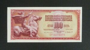Yugoslavia Banknote - 1981 100 Dinara Unc (P90a)