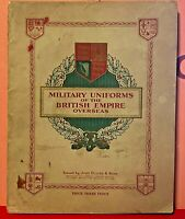 CIGARETTE CARDS ALBUM-MILITARY UNIFORMS OF THE BRITISH EMPIRE OVERSEAS-1938-Comp