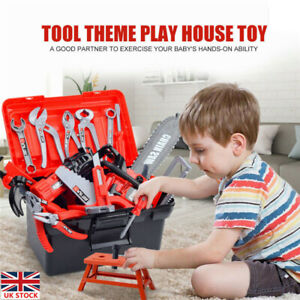 31xChildren Kids Drill Tool Box Set DIY Builders Building Construction Toy Gifts