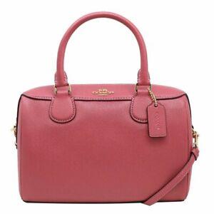 NWT Coach F57521 F32202 Crossgrain Leather Mini Bennett Satchel Handbag Strawber