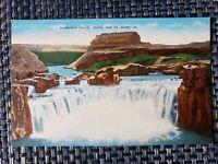 1930s Shoshone Falls Idaho ID Waterfall 202ft High  Linen Postcard