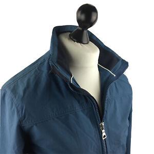 Marks & Spencer Mens Zip Up Jacket Small Blue Harbour Winter Wear Coat Top Blue