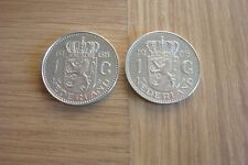 TWO COINS BOTH 1968 - NETHERLANDS -