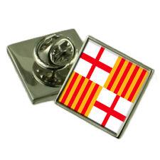 Barcelona City Spain Flag Lapel Pin Badge Pouch