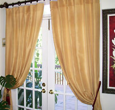 """2Pc. Drapes Curtains, finest quality 100% natural silk fabric 50""""x84"""""""