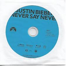 Justin Bieber Never Say Neve Blu disc only Free Shipping USA Very Good Condition