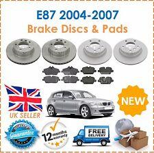 For BMW E87 116i 118i 118D 04-07 Front & Rear Brake Discs & Brake Pads Set New