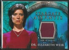 Stargate Atlantis Season 1 Costume Card Elizabeth Weir