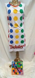 Ladies 1980's Twister Game Fancy Dress Costume Retro Womens Outfit  Size Medium