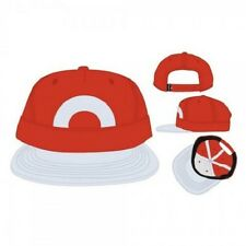 OFFICIAL NINTENDO'S ASH KETCHUM (XY SERIES) COSTUME FLAT BILL SNAPBACK CAP (NEW)
