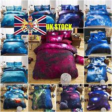 UK 3D Galaxy Duvet Cover Pillow Case Quilt Cover Bedding Set Queen King All Size