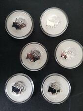 1 oz Silver Coins Tuvalu Marvel series 6 Coin set. SPIDERMAN !!