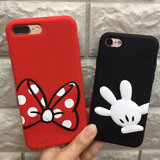 For iPhone X 6S 7 8 Plus Minnie Mickey Mouse Strap Rugged Shockproof Case Cover