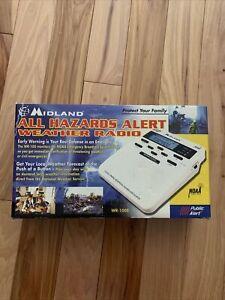 Midland WR100 All Hazards Weather Alert Radio - White - New In Box