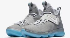 Nike Lebron 14 Xiv (Gs) Mag Marty McFly Gray Blue 859468-005 Youth Sz 7