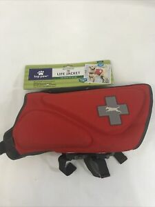 Neoprene Dog Life Jacket by TOP PAW Red Sz L (55-85lbs) NWT