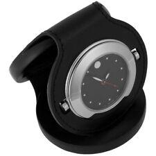 Movado Leather Case Alarm Luxury Pocket Watch Travel Alarm 1805467  SWISS MADE