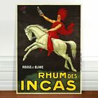 "Stunning Vintage Rum Alcohol Poster Art ~ CANVAS PRINT 8x10"" ~ Rhum des Incas"