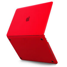 Kuzy MacBook Pro 15 Case 2017 & 2016 A1707 Rubberized Hard Protective Cover Red