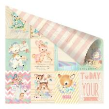 """Prima Heaven Sent 2 - WELCOME BABY - 12x12"""" D/sided Foiled Scrapbooking Paper"""