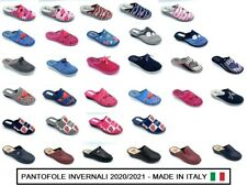 CIABATTE INVERNO DONNA MADE IN ITALY PANTOFOLE COMFORT LINEA BLU COMODA