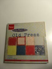MARIANNE DESIGN OLD PRESS PAPER BLOCK 32 SHEETS 8 DESIGNS 15,2X15,2 CM NEW