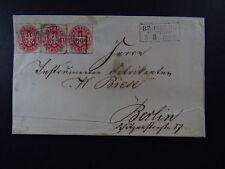 Letter Germany Deutschland Preussen Bromberg Bahnhof Berlin
