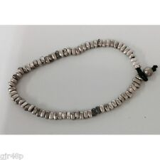 Mens Silver Coloured Smooth Beaded Bracelets Worry Beads Stress Beads Wristband