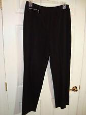 Rafaella Black Polyester/Rayon/Spandex Front Zip Career Pants 14 EUC