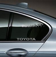 2 - TOYOTA Sport  Racing Vinyl Decal sticker emblem logo SILVER