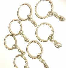 10 x Iron Keyrings, Key Chain Findings Platinum Color