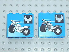 LEGO GARAGE Panel 1 x 4 x 3 with Tricycle and Wrench Pattern 4215bpx26 / 6426
