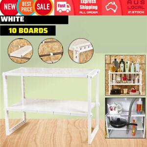 Under Sink Rack Shelf Organizer Space Saving Tidy Storage Kitchen Bath Cupboard
