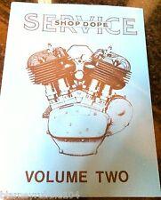 Harley Shop Dope Vol 2 Service Manual 1934-1940 VL RL DL EL Knucklehead UL