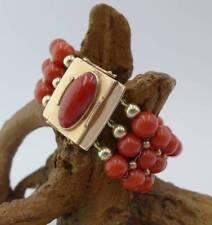 Hochwertiges Edelkorallen Armband mit 585 Gelbgold 60,6 Gramm
