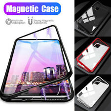 For iPhone 11 Pro XS Max XR X 8 7 6 Magnetic Adsorption Metal + Glass Case Cover