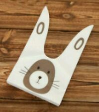 5 Plastic Rabbit Ear  Easter Party Favor Gift Bags