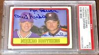 Phil & Joe Niekro Atlanta Braves PSA DNA MLB auto autograph signed baseball card
