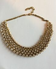 Zara Inspired Statement Chunky Bib Choker Crystal Rhinestone Necklace Gorgeous