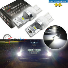 2 Pure White 7443 7440 T20 Philips Luxen LED Turn Signal, Backup DRL Light Bulbs