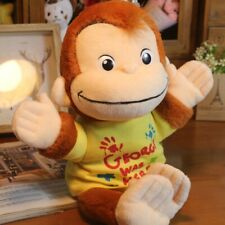 """Usj Curious George Plush Doll Hand Puppet """" George was Here """""""