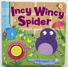Kids/Baby sound book Incy Wincy Spider Hardback New!!!